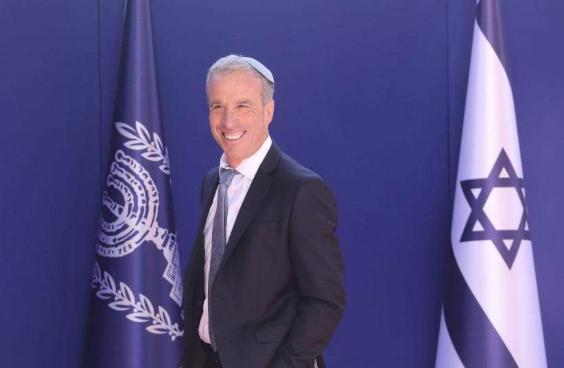Elazar Stern at the Presidential Meeting (credit: MARC ISRAEL SELLEM/THE JERUSALEM POST)