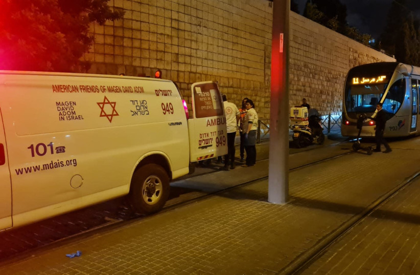 50 year-old man found hurt by Jerusalem's light-rail