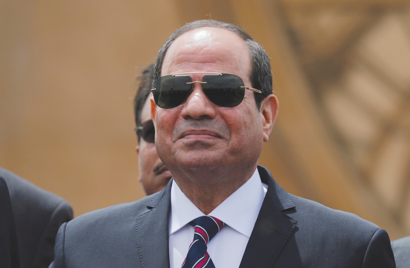 EGYPTIAN PRESIDENT Abdel Fattah al-Sisi attends a ceremony in Ismailia, Egypt, in 2019 (credit: AMR ABDALLAH DALSH / REUTERS)