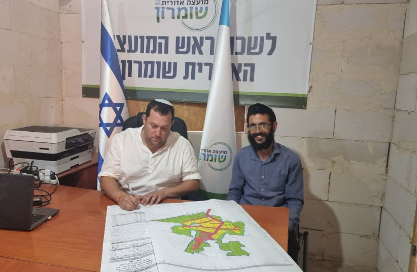 The Samaria Regional Council has submitted a master plan to the Civil Administration for the West Bank Evyatar outpost, so that it can be authorized as new neighborhood of the Kfar Tapuach settlement.  It's the latest in a series of steps settler have taken to stave off the pending eviction fo the o (photo credit: Courtesy)