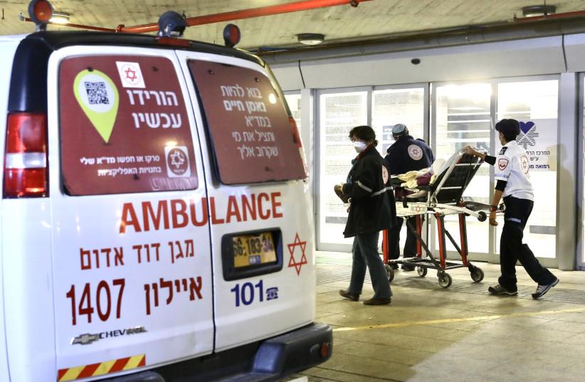 ENTRÉE DANS LA salle d'urgence de l'hôpital Ichilov de Tel-Aviv.  (crédit photo : MARC ISRAEL SELLEM)