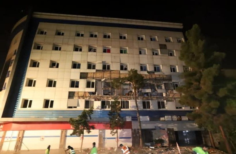 Bâtiment touché par une explosion dans l'ouest de Téhéran, le 15 juillet 2021 (Crédit photo: IRANIAN LABOR NEWS AGENCY)