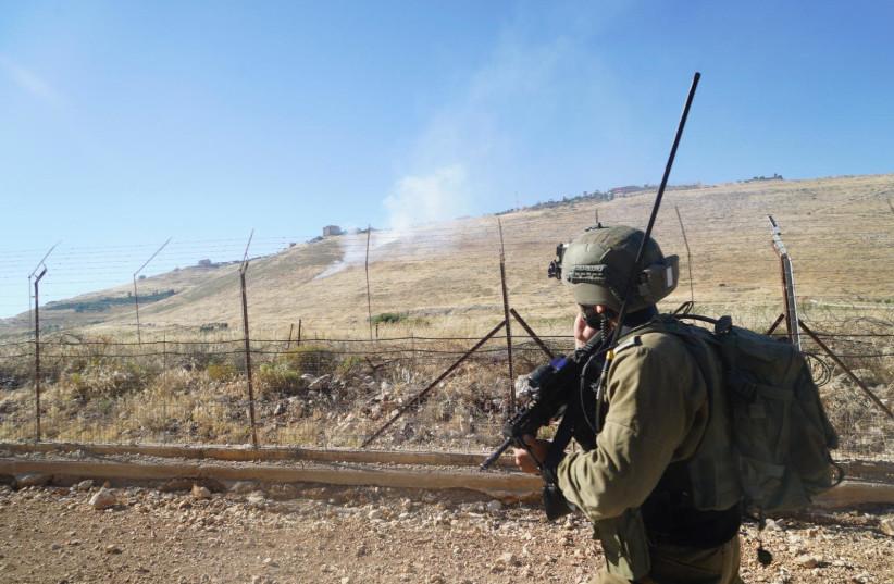 IDF along the northern border between Israel and Lebanon. (credit: IDF SPOKESPERSON'S UNIT)