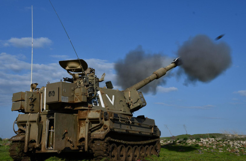 IDF artillery on the northern border between Israel and Lebanon, July 15, 2021.  (photo credit: IDF SPOKESPERSON'S UNIT)