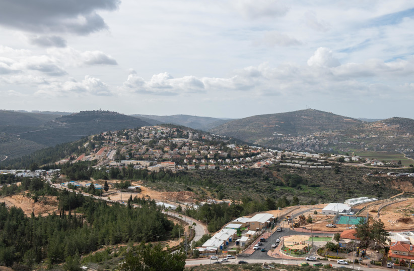 View of the Jewish settlement of Eli, in the West Bank on January 17, 2021. (credit: SRAYA DIAMANT/FLASH90)