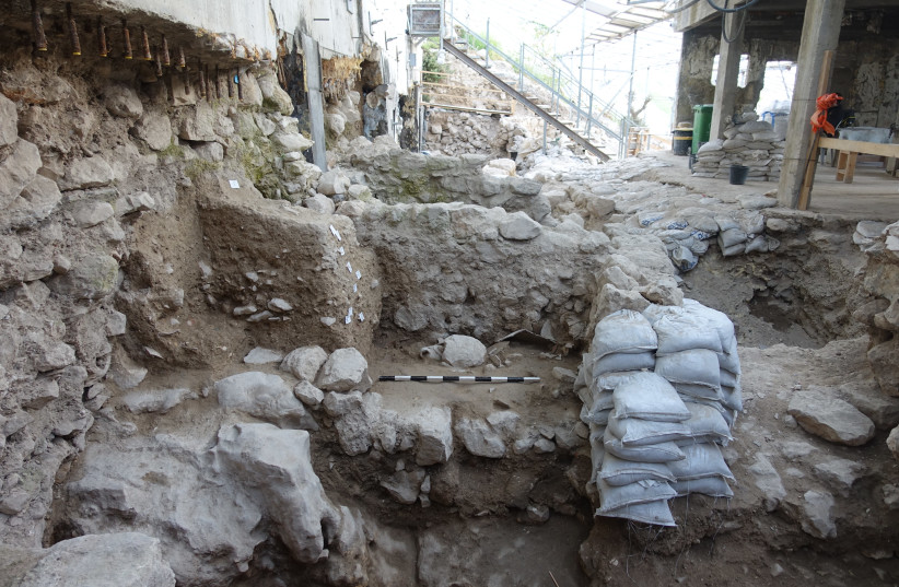 The excavation area in the City of David. (photo credit: ORTAL CHALAF COURTESY OF THE ISRAEL ANTIQUITIES AUTHORITY)