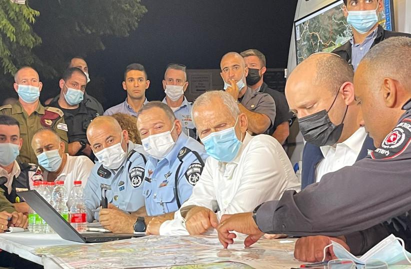 Πρωθυπουργός Bennett για τη φωτιά στην Ιερουσαλήμ, 15 Αυγούστου 2021 (Πίστωση: Alan Hatchman)