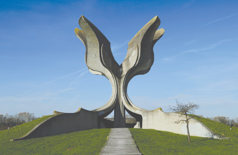 A MONUMENT TO honor the victims of the Jasenovac camp. (credit: ANTONIO BRONIC/ REUTERS)