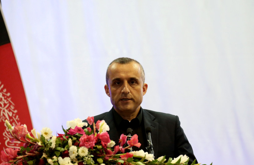 Amrullah Saleh first vice-presidential candidate of Ashraf Ghani speaks during the presidential election campaign in Kabul, Afghanistan September 13, 2019. (credit: OMAR SOBHANI / REUTERS)