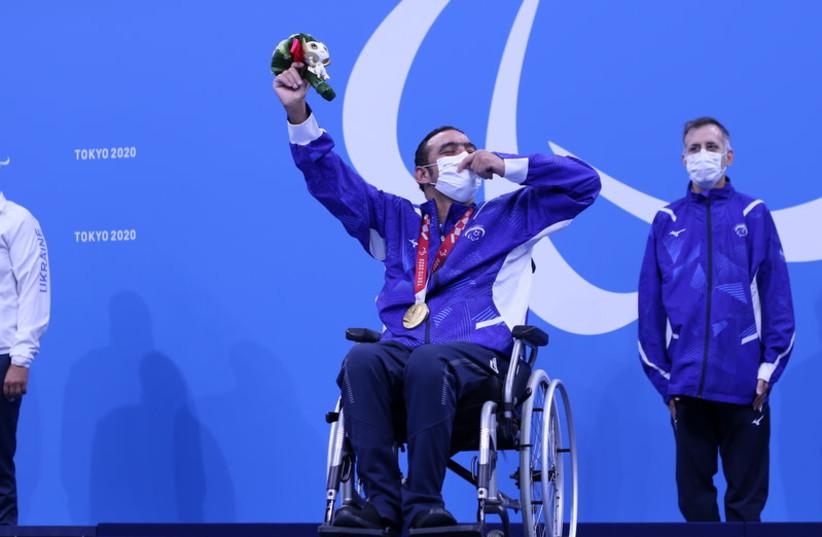 2021年8月25日パラリンピックで金メダルを獲得したIyad Shalabi(提供:KEREN ISAACSON)