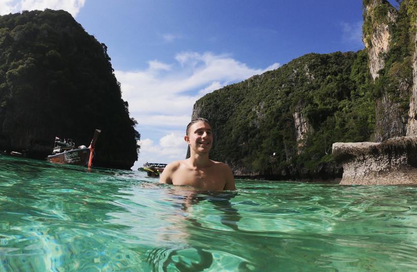 Costly trip: Hadar Ashuach celebrated his 18th birthday in Thailand (credit: Courtesy)