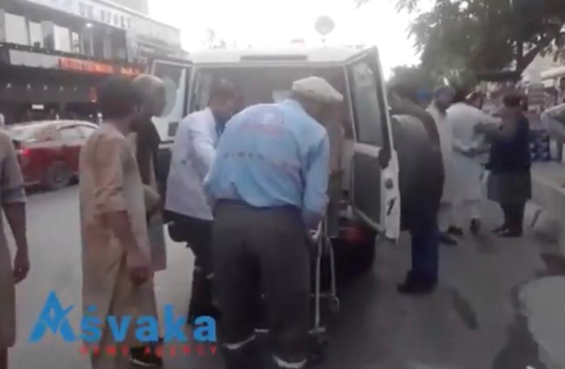 Injured people arrive at a hospital in Kabul, Afghanistan August 26, 2021. (credit: ASVAKA NEWS/via REUTERS)