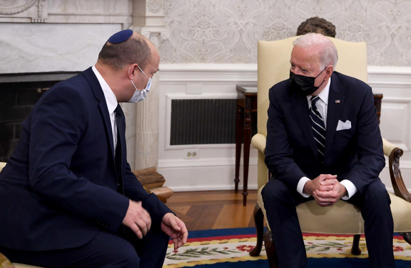 Le PM Bennett rencontre le président Biden à Washington (crédit photo : AVI OHAYON - GPO)