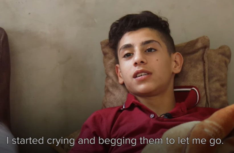 15-year-old Palestinian teenager Tareq recounts being attacked by Jewish extremists in a video shared on YouTube by Defence for Children Palestine. (photo credit: screenshot)