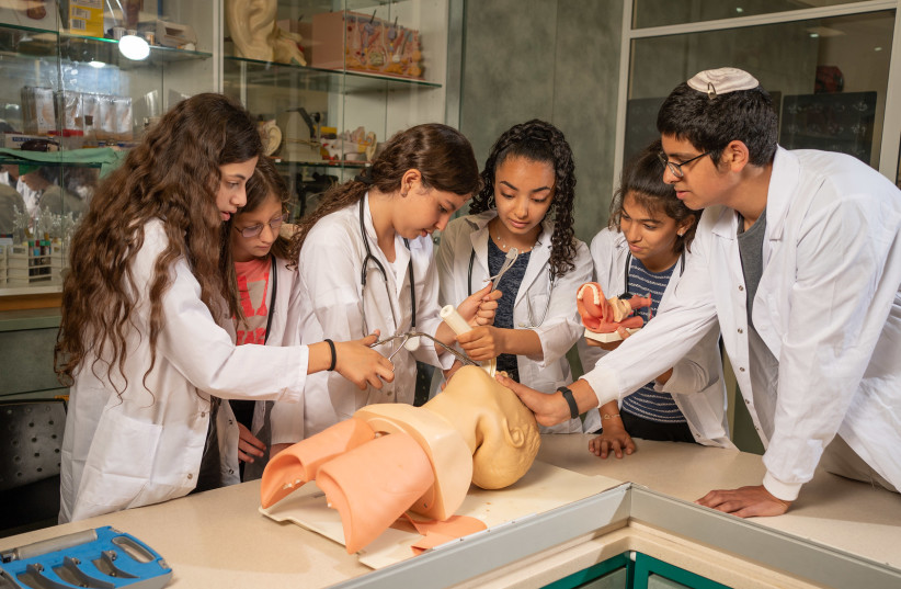 Doctor for a day at the Medicine Museum (credit: RAMI ZARNGER)