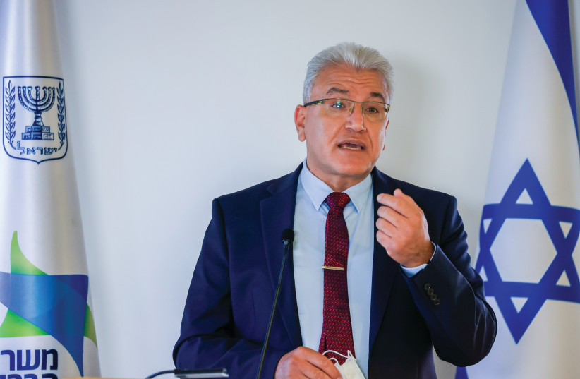 CORONAVIRUS 'CZAR' Prof. Salman Zarka attends a press conference in Jerusalem on Sunday (credit: OLIVIER FITOUSSI/FLASH90)
