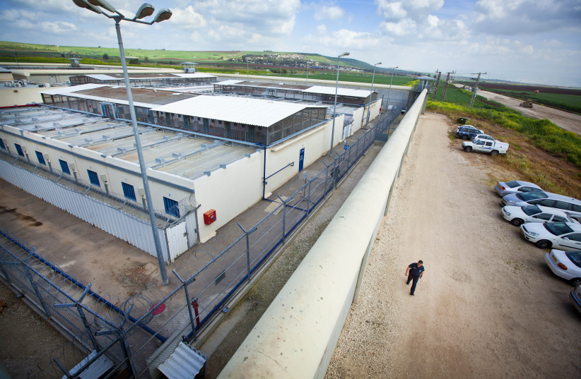 View of the Israeli Prison Authorities, Gilboa Prison, near Israel Valley. (credit: MOSHE SHAI/FLASH90)