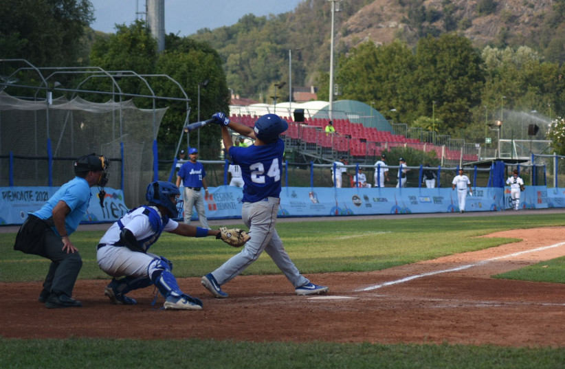 Team Israel beat France 10-0 in their game at the European Baseball Championships, on September 13, 2021. (credit: ISRAEL ASSOCIATION OF BASEBALL/ COURTESY)