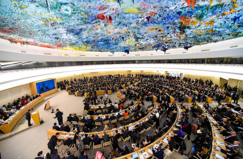 """Deputy Minister, Alvin Botes delivers a National Statement at the Annual High Level Panel on Human Rights Mainstreaming under the theme """"Thirty years of implementation of the Convention on the Rights of the Child: challenges and opportunities"""", at the UNHRC, Geneva. (photo credit: FLICKR)"""