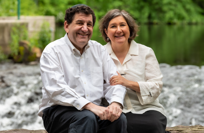 The writer with her husband and rabbi of the New Light Synagogue, Jonathan Perlman. (Ivy  (credit: IVY DASH PHOTOGRAPHY)