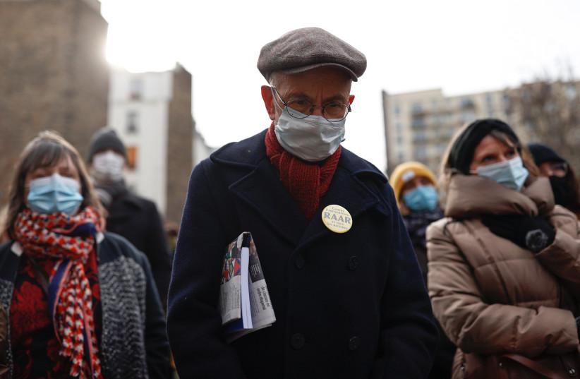 Gathering against antisemitism and racism in Paris (credit: REUTERS/CHRISTIAN HARTMANN)