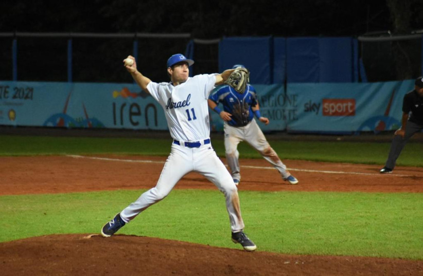 Shortstop Ty Kelly was a key part of Israel's defense, hitting .333.  The former Mets and Phillies infielder finished against Italy, pitching the final 1-2 / 3 innings (credit: ISRAEL ASSOCIATION OF BASEBALL / COURTESY)