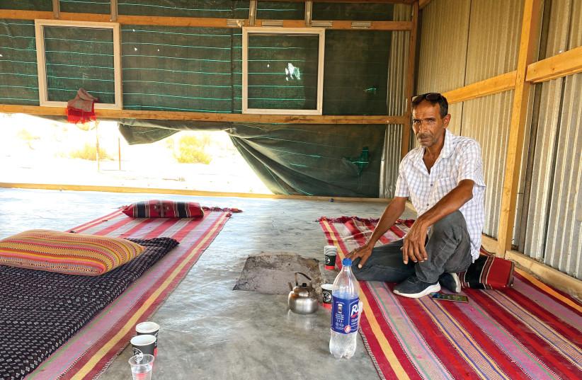 HLAYEL AL-A'WAWAI in his home in Beir Hadaj.  (credit: Courtesy)