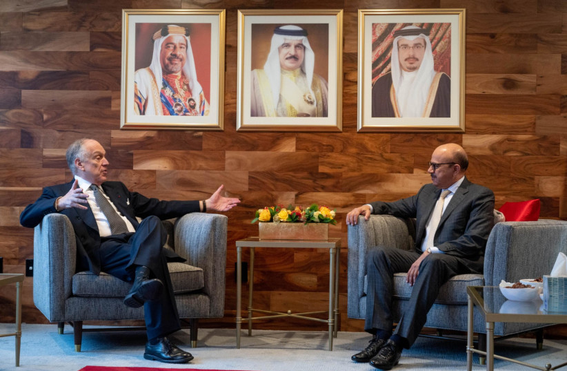 WJC President Ronald Lauder meets with Bahraini Foreign Minister (photo credit: WORLD JEWISH CONGRESS)