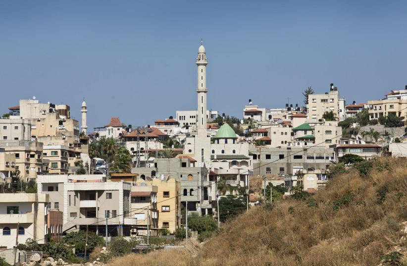 Vue de la ville israélo-arabe de Kfar Kassem, près de Tel Aviv. 02 juillet 2013. (crédit : MOSHE SHAI/FLASH90)