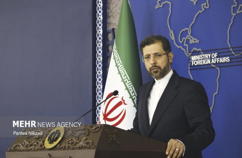 Iranian Foreign Ministry spokesman Saeed Khatibzadeh (photo credit: Mehr News Agency/Pantea Nikzad)