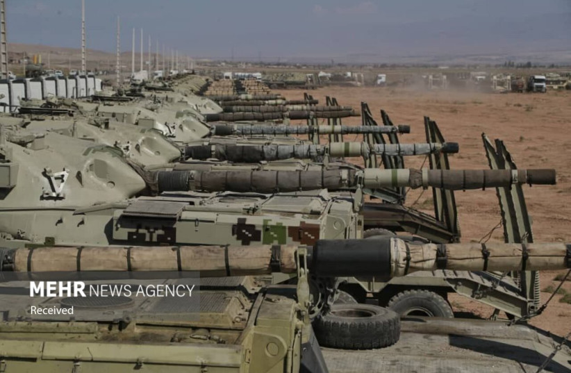 ''Conquerors of Khaybar'' exercise conducted by Iran near border with Azerbaijan (credit: MEHR NEWS AGENCY)