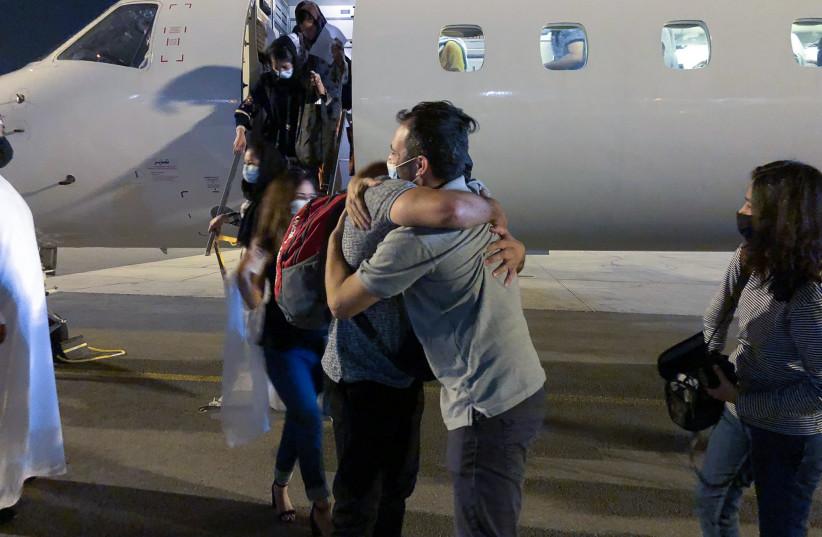Afghanistan Girls Evacuation to UAE. (credit: ETHAN SCHWARTZ (ISRAAID))