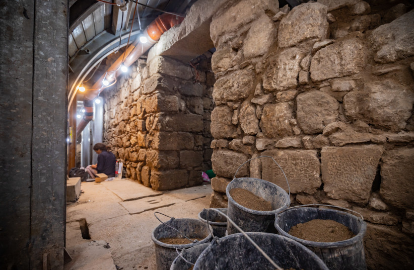 A building on the Pilgrimage Road in the City of David. (credit: KOBY HARATI/CITY OF DAVID)
