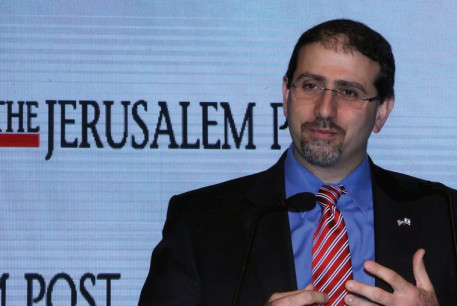 US AMBASSADOR Dan Shapiro addresses the Jerusalem Post Diplomatic Conference in the capital