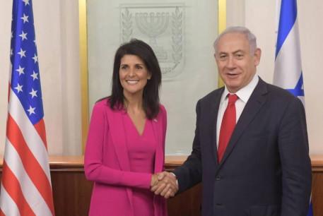 US Ambassador to the UN Nikki Haley meets with Prime Minister Benjamin Netanyahu in Jerusalem