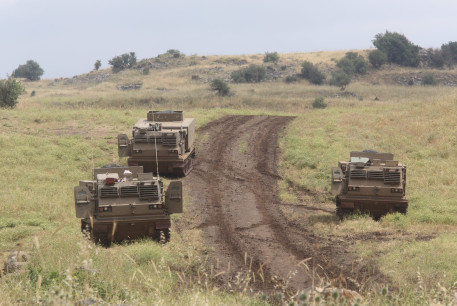 IDF forces mobilize in the north of Israel following Trump's withdrawal from the Iran nuclear deal, May 9, 2018