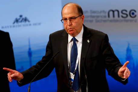Israeli Defence Minister Moshe Yaalon speaks at the Munich Security Conference in Munich, Germany, February 14, 2016