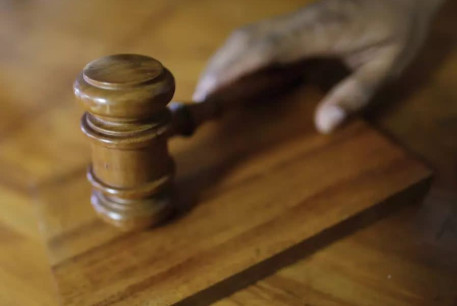 A gavel in a court of law