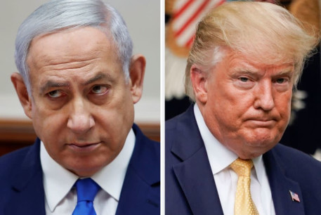 Benjamin Netanyahu and Donald Trump
