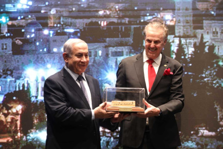 Dr. Mike Evans and Prime Minister Benjamin Netanyahu