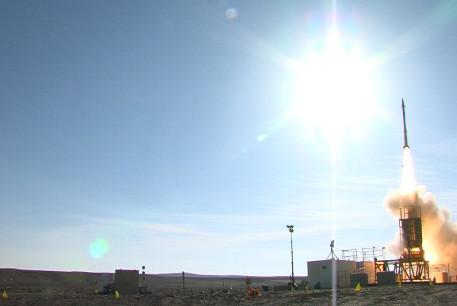 David's Sling Weapons System Stunner Missile intercepts target during inaugural flight test