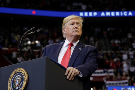 U.S. President Donald Trump holds a campaign rally in Sunrise, Florida, U.S., November 26, 2019
