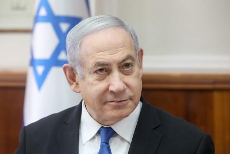 Prime Minister Benjamin Netanyahu attends a cabinet meeting, December 2019.