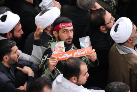 Residents of Qom, Iran meet Supreme Leader Ali Khamenei after US assassination of Qasem Soleimani