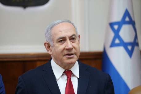 Prime Minister Benjamin Netanyahu attends the weekly cabinet meeting, January 2020.