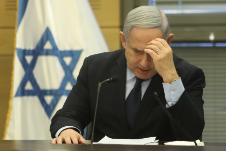 Prime Minister Benjamin Netanyahu speaking at the Knesset, February 2020.