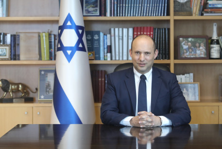 Defense Minister Naftali Bennett at the Defense Ministry on February 25, 2020.