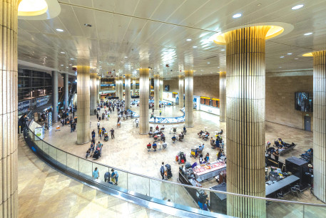 THE ARRIVALS HALL at Ben-Gurion Airport – will it turn into a ghost town?