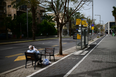 The empty roads of Tel Aviv  on March 27, 2020. The daily Israeli life has largely shut down with more cases of people being infected by the Coronavirus.