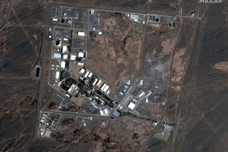 A handout satellite image shows a general view of the Natanz nuclear facility after a fire, in Natanz, Iran July 8, 2020